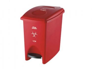 Papelera Pedal 10 Litros Roja Residuos Peligrosos Marca Estra 235224D-1004