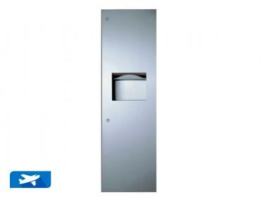 Dispensador de Toallas de Papel con Recipiente de Desechos para Empotrar Bobrick B-39003