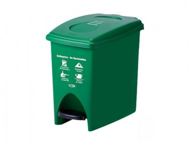 Papelera Pedal 10 Litros Verde Residuos No Reciclables Marca Estra 235224D-1005
