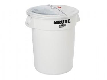 Contenedor Para Ingredientes Redondo Brute 400 Tazas Rubbermaid FG9G7500WHT Blanco